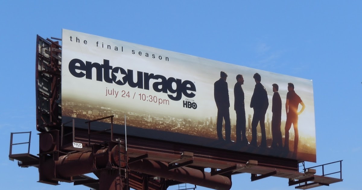 Daily Billboard Entourage Final Season Tv Billboards Advertising For Movies Tv Fashion Drinks Technology And More