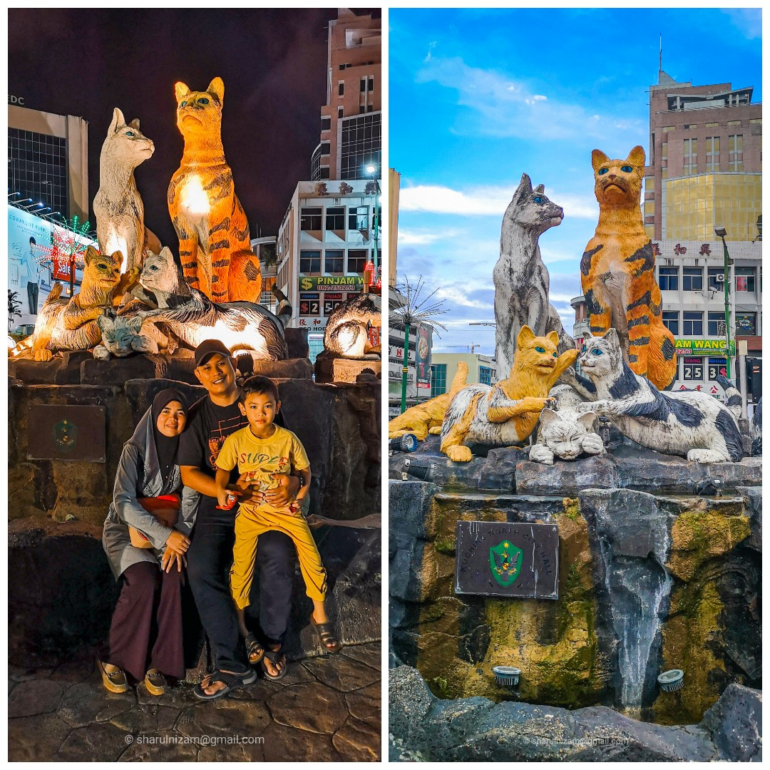 Bergambar Dengan Cat Statue