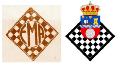 Emblemas de la Federación Montañesa de Ajedrez y ahora Federación Cántabra de Ajedrez