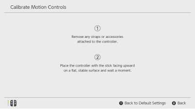 Calibrate Motion Controls Nintendo Switch Update