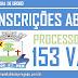 PREFEITURA ABRE CONCURSO PÚBLICO, 153 VAGAS DE NÍVEIS FUNDAMENTAL, MÉDIO E SUPERIOR