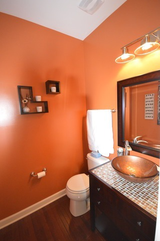 before pictures for powder room makeover