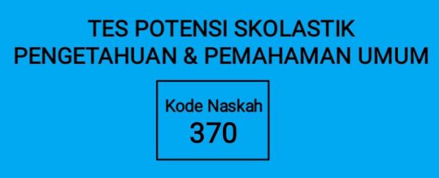 SOAL ASLI DAN PEMBAHASAN  SBMPTN 2021 TPS-PENGETAHUAN DAN PEMAHAMAN UMUM