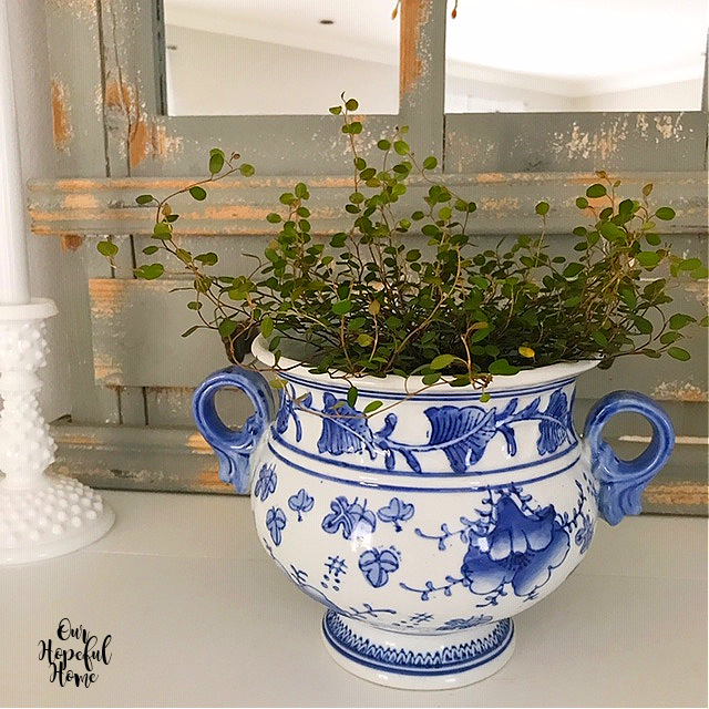 blue white porcelain cachepot