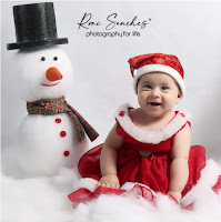 Book Bebê menina de vestido e boneco de neve, ensaio bebê