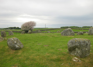 Granite boulders of the Torhouse Stone Circle, near Wigtown, Scotland