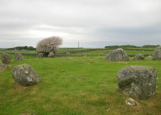 Granite boulders of the Torhouse Stone Circle, near Wigtown, Scotland
