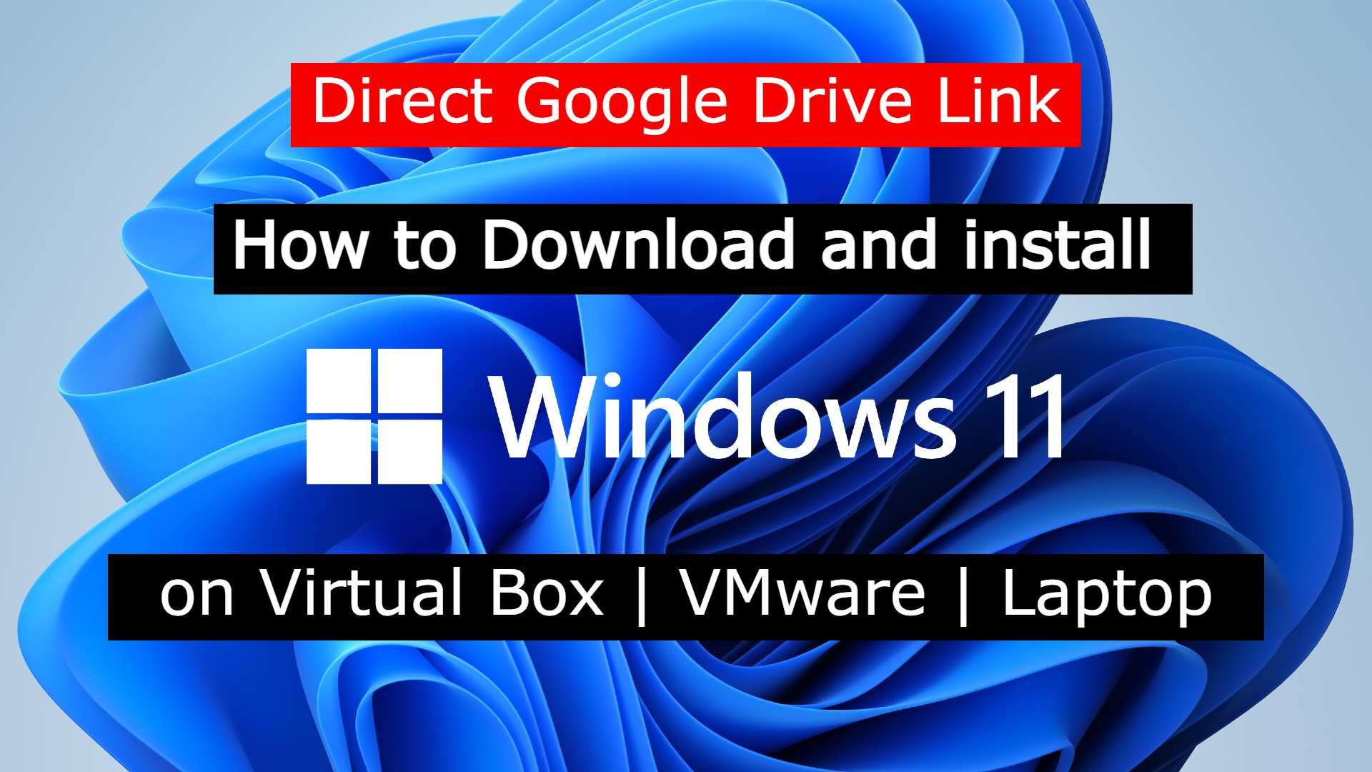How to Download and install Windows 11 on Virtual Box | VMware | Laptop