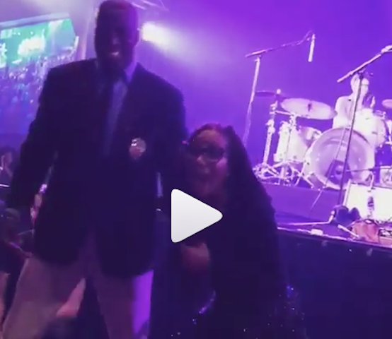 What an excited male bouncer did to Singer Asa on stage last Night (Video)