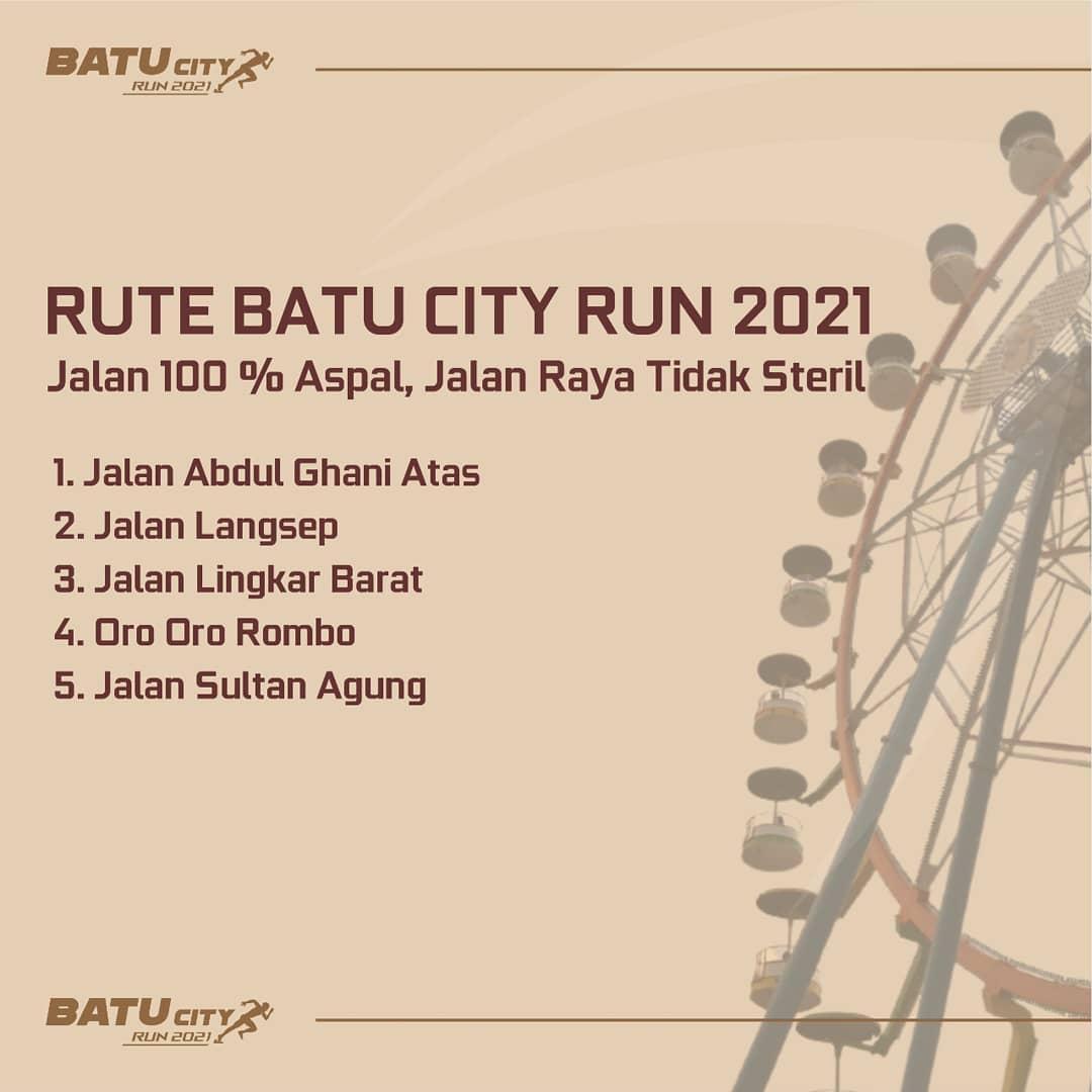 Rute 👟 Batu City Run • 2021