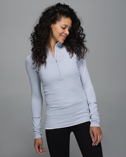lululemon-swiftly-half zip silver