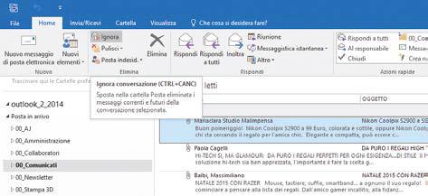 Come ripulire i messaggi di posta in Outlook