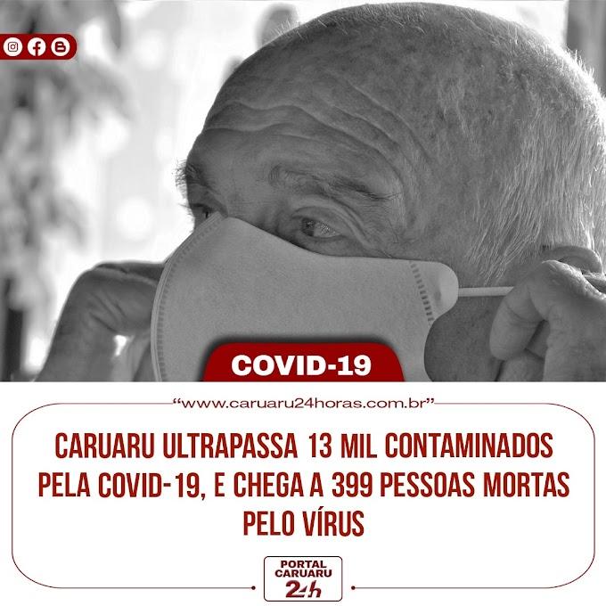 Caruaru ultrapassa 13 mil contaminados pela COVID-19 e chega 399 pessoas mortas