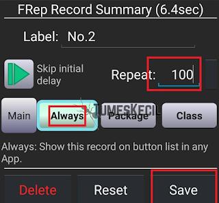 Setting Auto Tap Otomatis FRep
