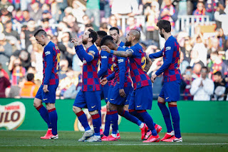 Barca 5-0 Eibar: Messi hits FOUR in riot & sends Barca top before Clasico