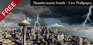 Thunderstorm Seattle - Live Wallpaper