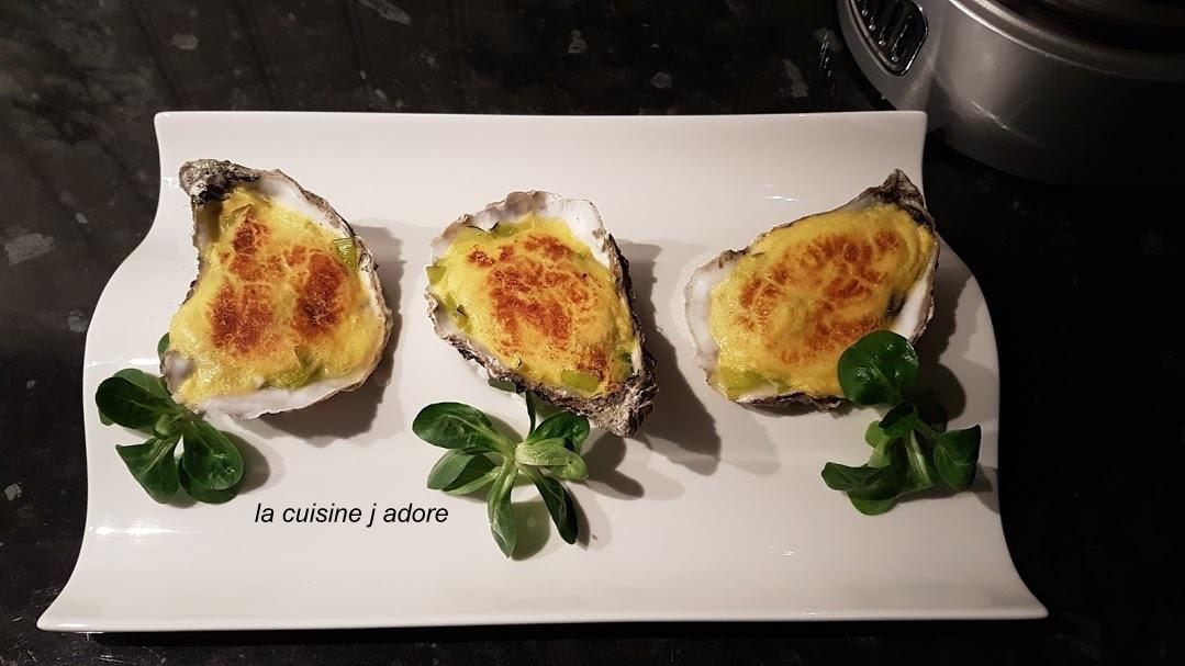 la cuisine j adore : HUITRES GRATINEES A LA FONDUE DE ...