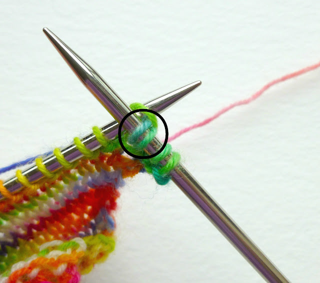 How to knit a drop stitch