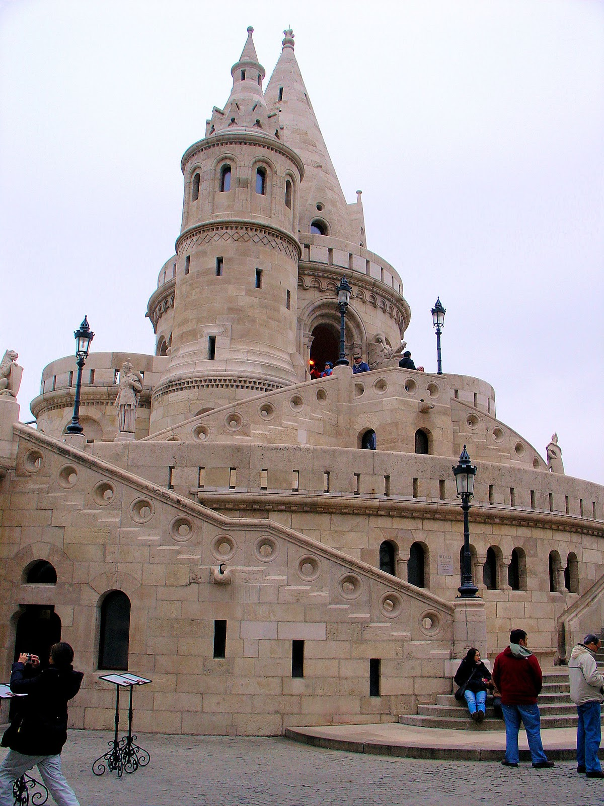 Fanciful designs of the 20th-century Fishermen's Bastion in Budapest, Hungary.