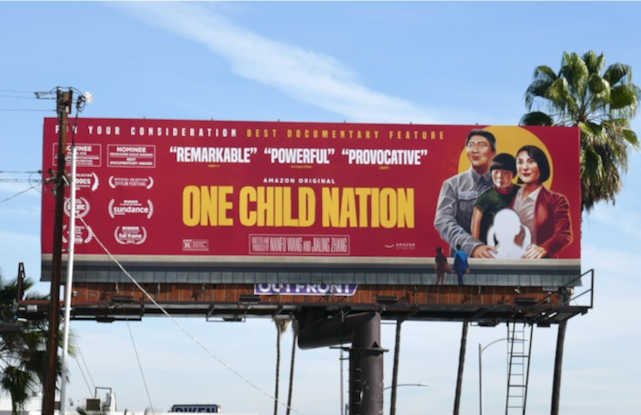 One Child Nation documentary FYC billboard