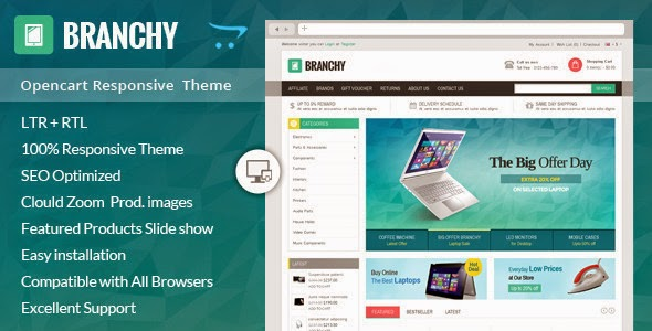 Themeforest New Opencart Responsive Theme