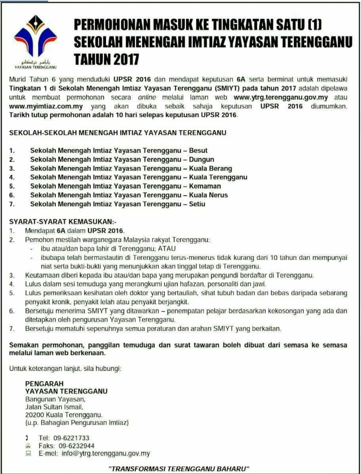 Yayasan Terengganu Semakan Bertanya X