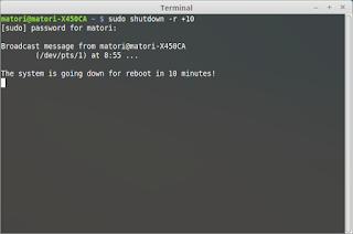 Linux : Cara Shutdown dan Restart Dengan Terminal