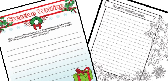 Merry Christmas Writing Ideas.Teacher Resource Room Here Are Two Free Worksheets
