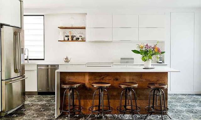 An Elegant Industrial Kitchen in White DIY home improvement