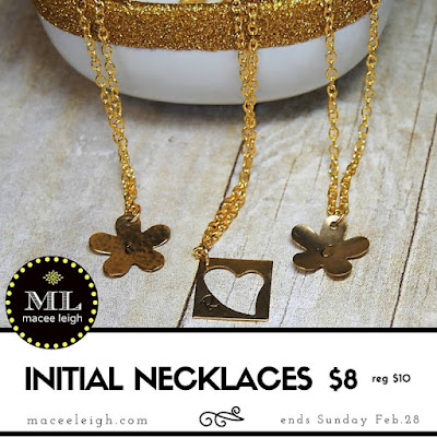Macee Leigh initial necklace sale