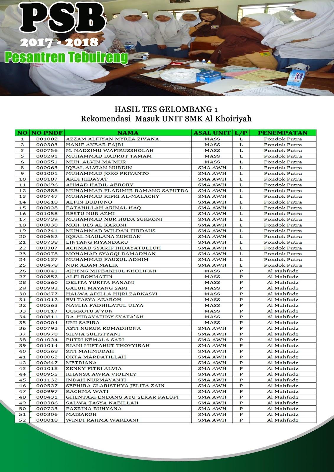 SMK Al Khoiriyah Putra-Putri [REKOMENDASI]