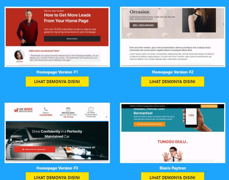 jasa pembuatan desain website perusahaan dengam landing page untuk pelaku bisnis reseller, supplier produk, web designer service, affiliate marketer online, produk creator, facebook advetiser UMKM dan banyak bisnis usaha dan jasa