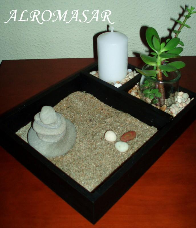 alromasar mini jardin zen. Black Bedroom Furniture Sets. Home Design Ideas