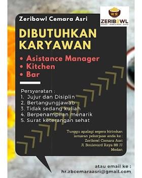 Lowongan Kerja Medan Mei 2021 SMA/SMK/D3/S1 Di Zeribowl