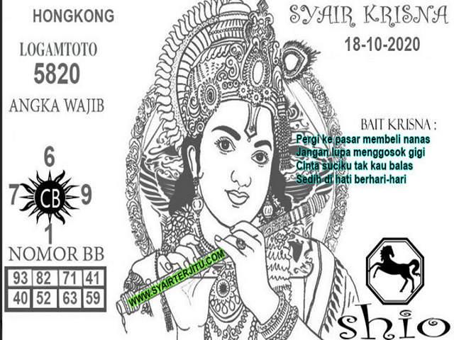 Kode syair Hongkong Minggu 18 Oktober 2020 170
