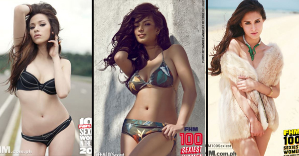 These are The Ladies Who Topped FHM's List of Sexiest Women From 2009 Up To 2017!