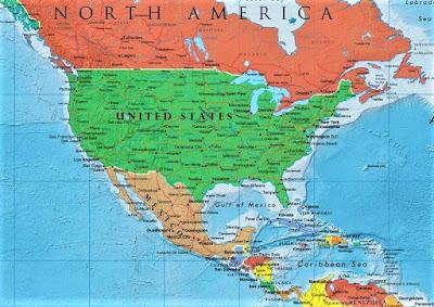 peta benua amerika utara