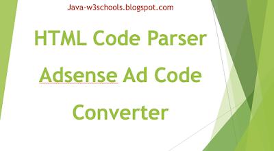 Free Google One Click Adsense Ad Code Converter 2019 | HTML to XML Parser Tool | Online Code Generator