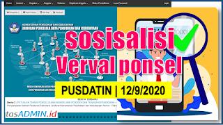 Info Verval Ponsel Sosialisasi Pusadatin