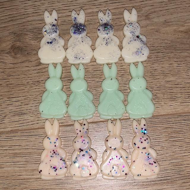 Beautiful bunny butt shaped wax melts