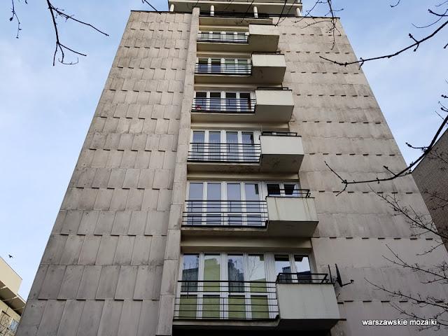 balkon Warszawa Warsaw modernizm modernism architektura architecture lata 60 Jerzy Gieysztor Jerzy Kumelowski luksus balkony mozaika