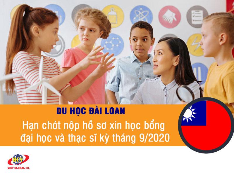 Du học Đài Loan: Hạn chót nộp hồ sơ học bổng cho khóa tháng 9/2020