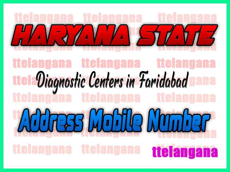 Diagnostic Centers In Faridabad In Haryana