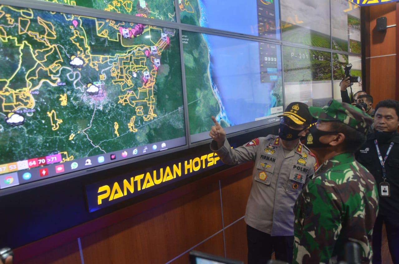 Apresiasi Pangdam II/Sriwijaya Mayjen TNI Agus Sunardi kepada Kapolda Jambi Dalam Penanganan Karhutla