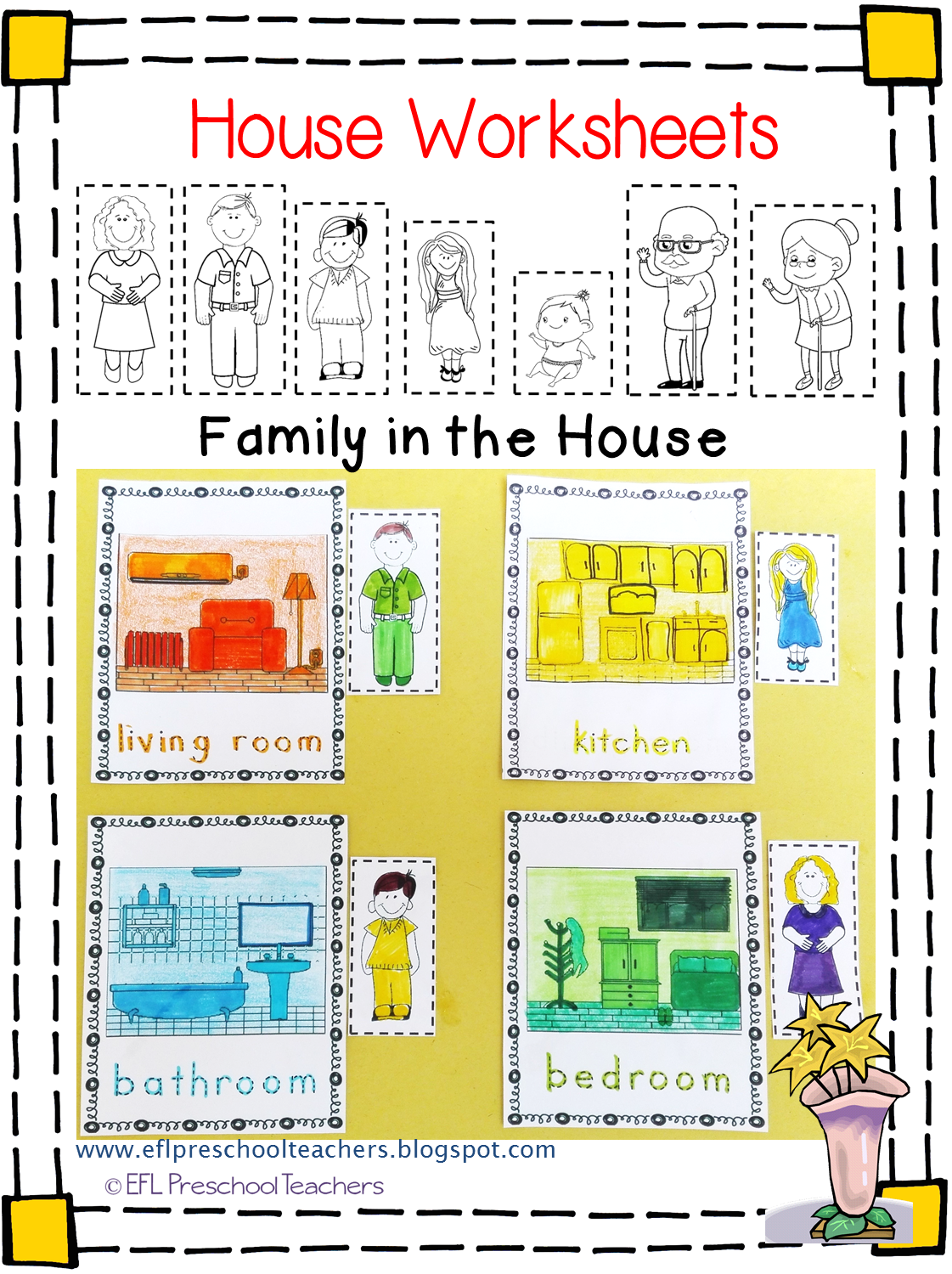 Esl Efl Preschool Teachers House Worksheets For The