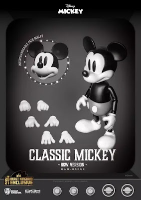 San Diego Comic-Con 2021 Exclusive Disney Mickey Mouse Classic B&W Version Dynamic Action Heroes Action Figure by Beast Kingdom