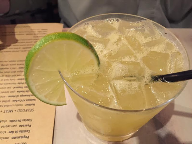 Handcrafted margarita made with fresh juices at Mesa Urbana