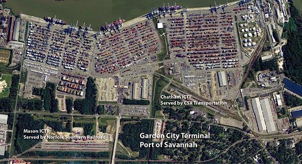 Cảng Savannah bắc Mỹ