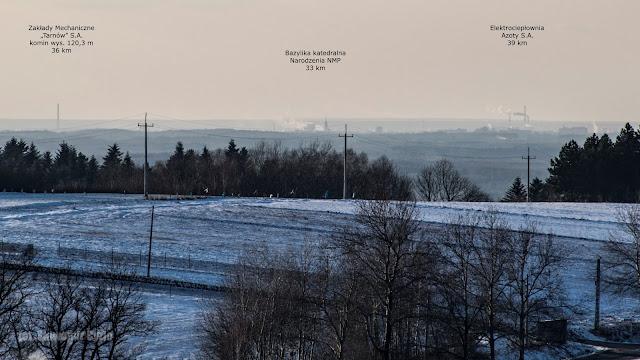 Tarnów z wieży w Głobikowej 7.02.2020