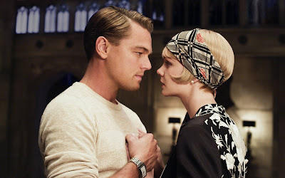 Carey Mulligan as Daisy Buchanan, Leonardo DiCaprio as Jay Gatsby in The Great Gatsby, Directed by Baz Luhrmann